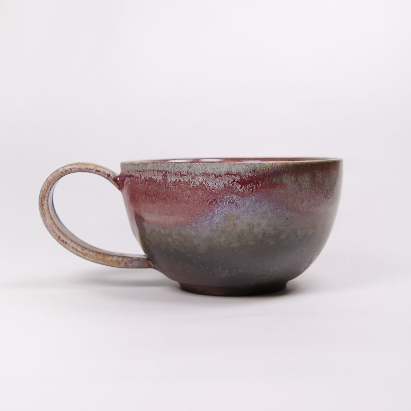 Ming bud ki l firewood ash glaze copper red ash latte coffee cup