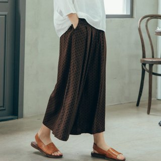 Friday traveler side-breasted wide pants