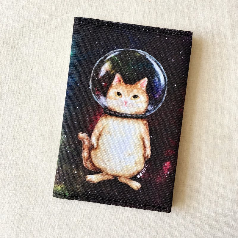Glass ball cat cosmic cat passport set