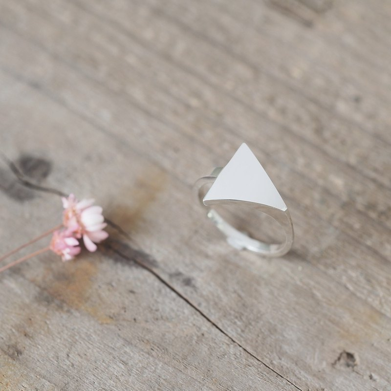 Minimal triangle ring 925 Sterling Silver