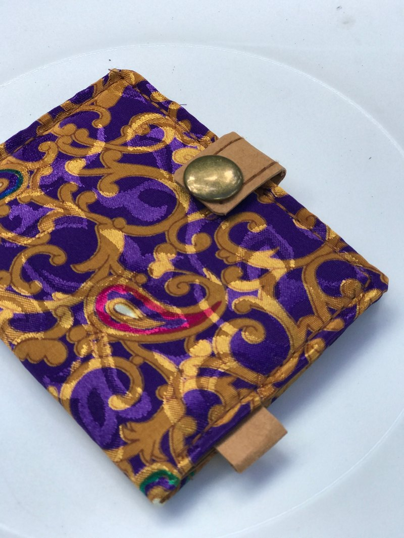 Washable Craft Paper . Fabric /Pattern/ Purple/ cardholder