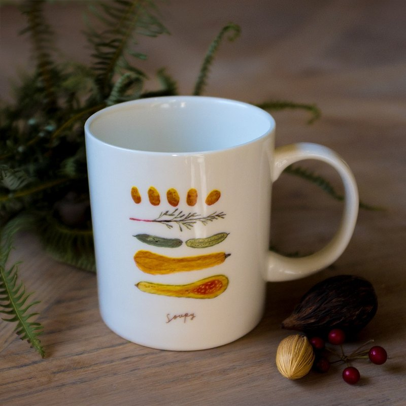 Vegetable double-sided mug