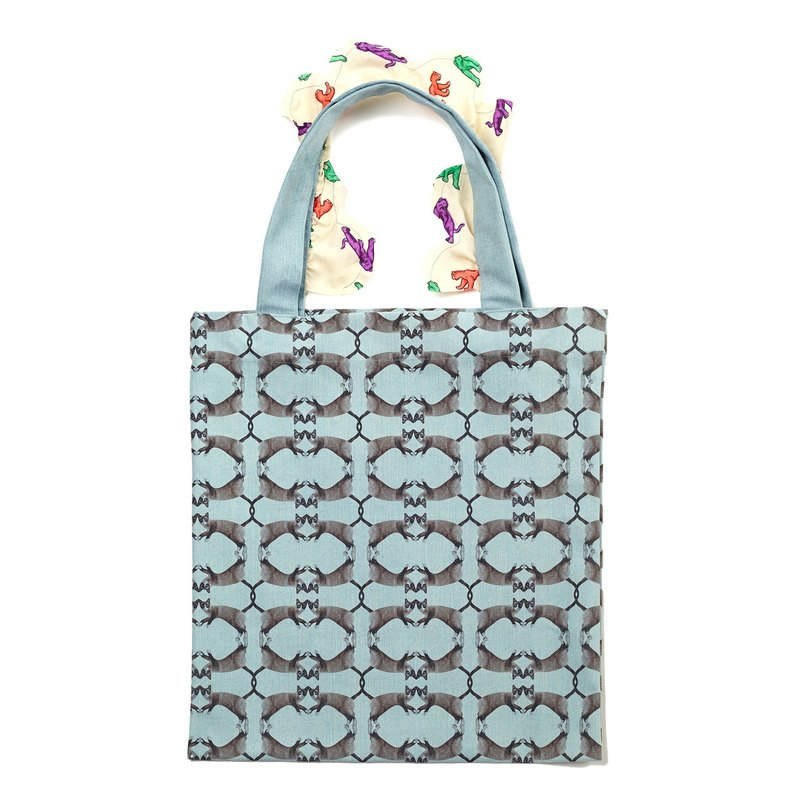 kiki Blue Frilly Tote