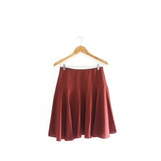 │Slowly│Retro Brick Red-Ancient Skirt│vintage.Retro.Literature