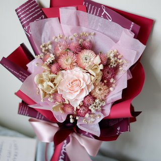 To be continued | Pink wine is not withered flowers, eternal flower rose bouquet spot