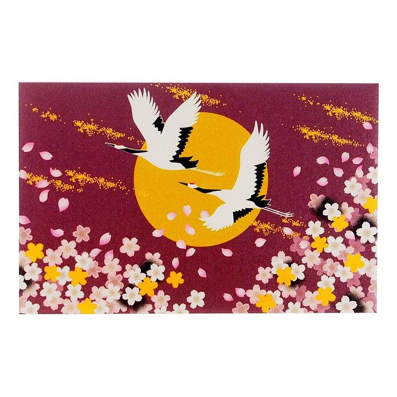 羅曼紫雙鶴珍珠和紙【Hallmark-卡片 經典和風/多用途】