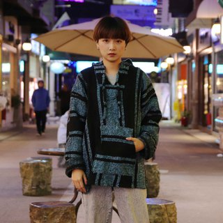 Tsubasa.Y vintage house Mexican wool cap Tee004 Sky blue black stripes, Baja Hoodie