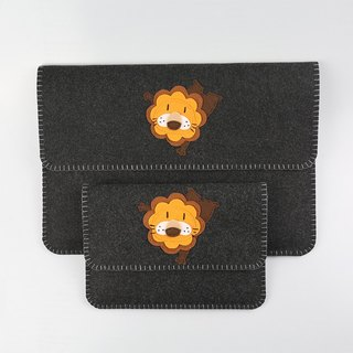 "Customized - Little Lion Macbook Air | pro 11 \ 12 \ 13 \ 15 ""Felt Cloth Laptop Bag + Power Pack Set"
