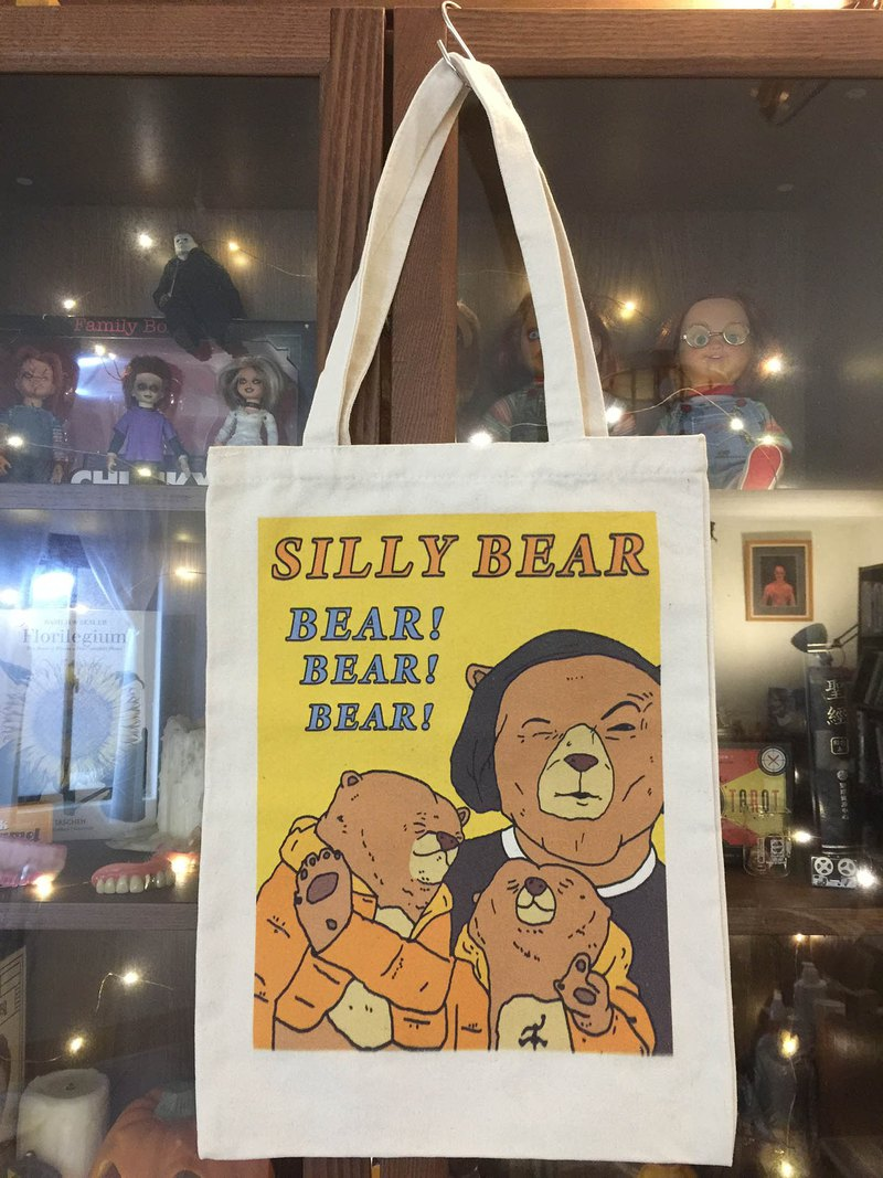 ㄎㄧㄤ熊(黃熊)手提袋帆布袋