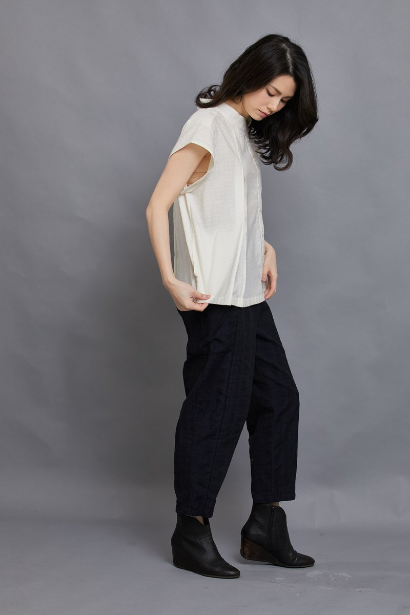 Bamboo Short Sleeve Shirt_Pearl Diamond_Fair Trade