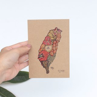 Taiwan Fruits Map postcard