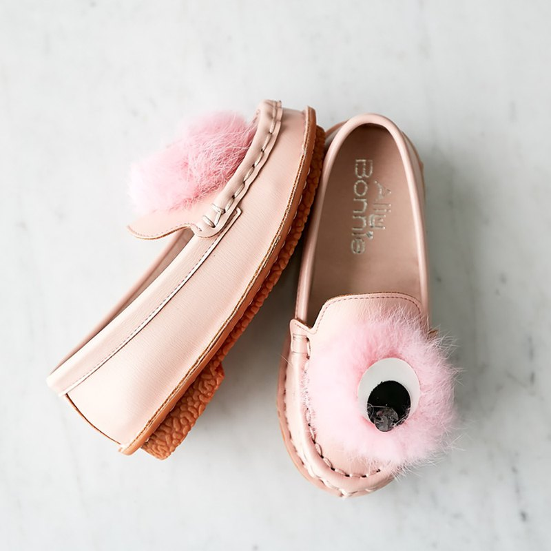 Parent-child shoes, eyeballs, girls, shoes, loafers, honey powder