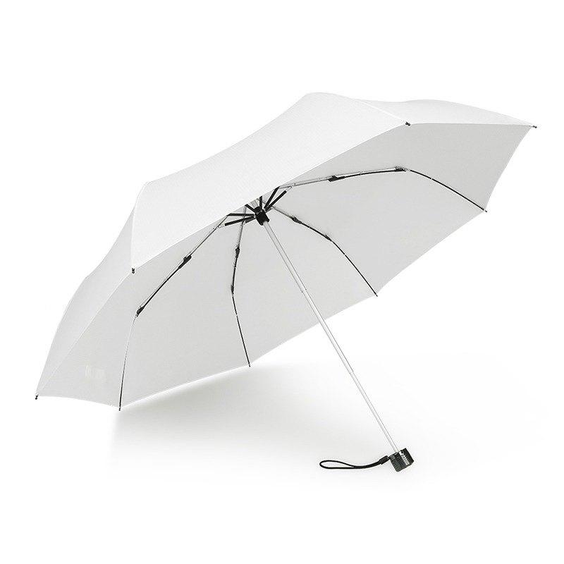 840873c92474d [German Kobold] UV-resistant, water-resistant, sun-visored, three-fold  umbrella - Lotus checkered pattern - White - Designer kobold | Pinkoi