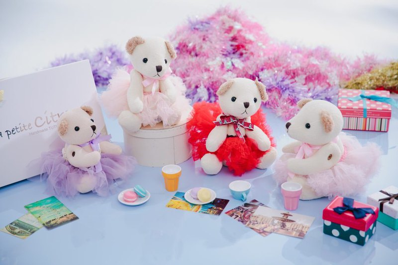 [TUTU BEAR] Paris sweet pink dress skirt bear