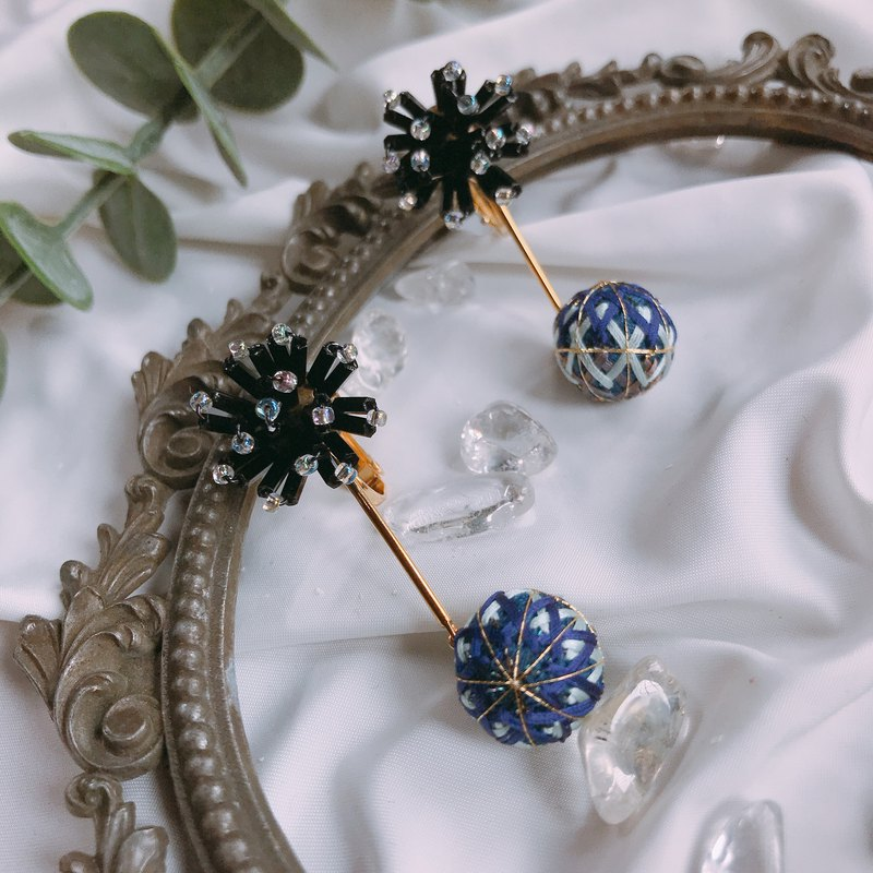 Flower God. Starry Night. Aspen Pearl Flower Handcuffs Handcuffs Earrings