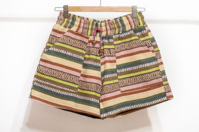 Women's National Wind Knit Shorts Stitched Cotton Knit Shorts - North African Moroccan Salar Wind