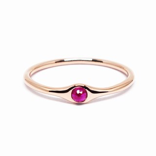 K18 Ruby minimum ring【Pio by Parakee】紅寶石戒指