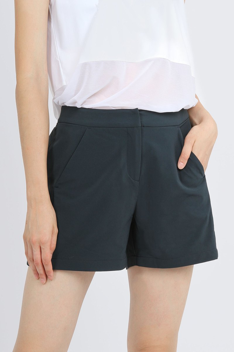 Side Fold Stretch Chest Shorts - Dark Blue