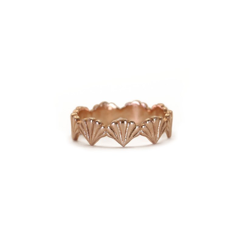 Portico Scallop Motif Stack Ring