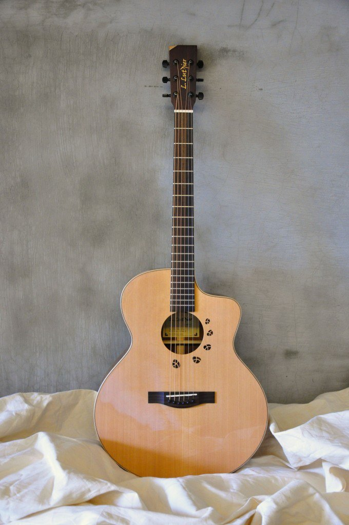 【L.Luthier】 Cofe S Mahogany guitar small Jumbo barrel body