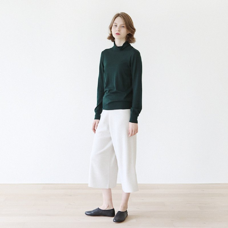KOOW Lily Zhou worsted Merino wool high collar bottoming shirt skin-friendly fine needle Australian wool sweater