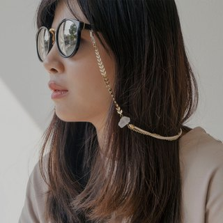 Sunglasses chain Gold Arrow With White Stone