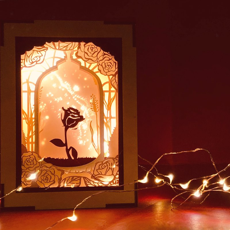 | Light and Shadow Story | Mini Color Paper Carved Night Light | Our Long Time Reunion II | Rose |
