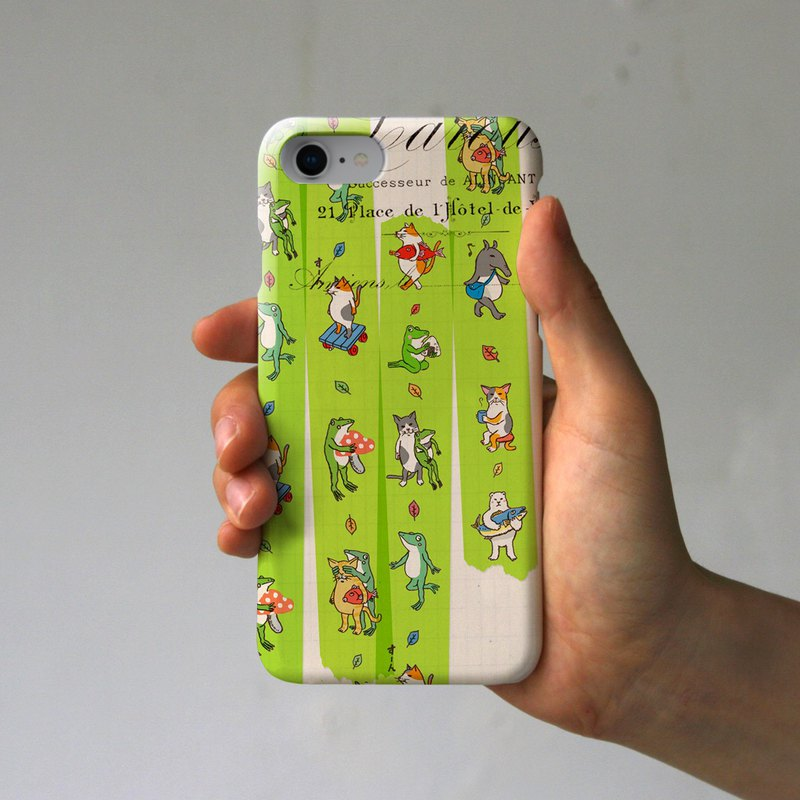 iPhone Case Masking Tape Green