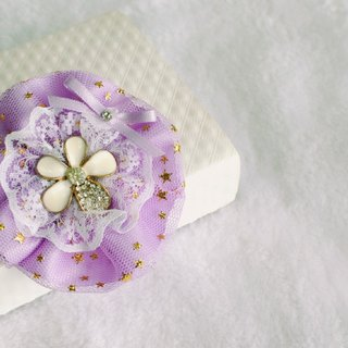 Flowers blossoming - ribbon hair clips - Liu folder