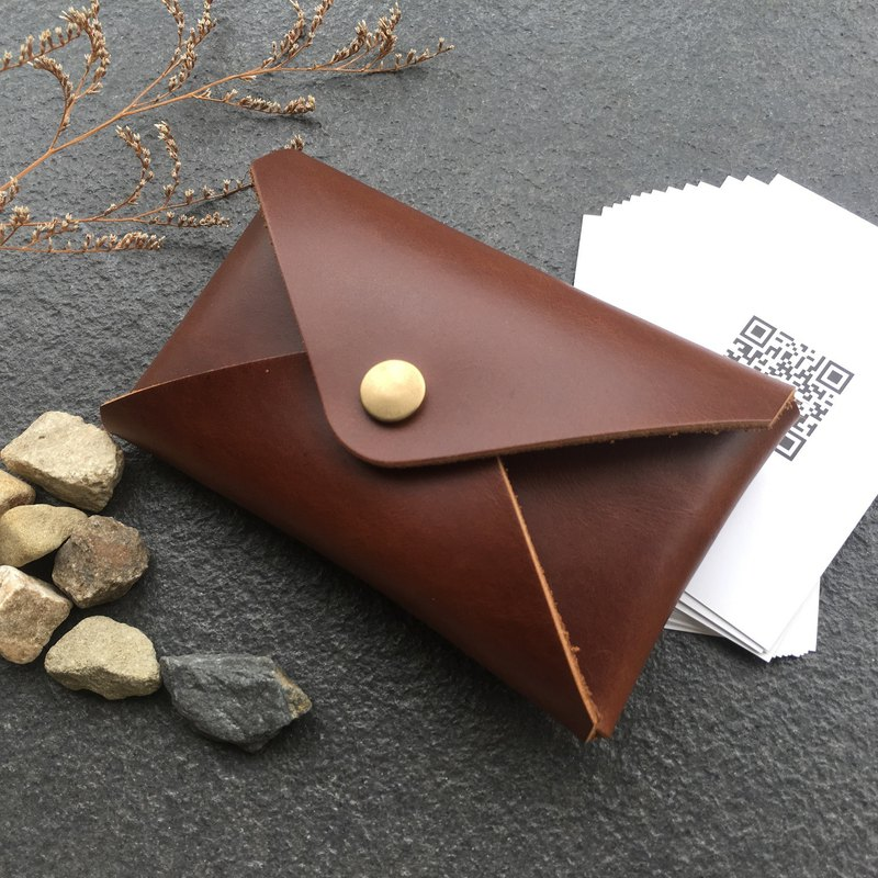 Xuan window leather art - handmade leather - business card holder card holder hand-made vegetable 鞣 鞣 鞣 custom customized