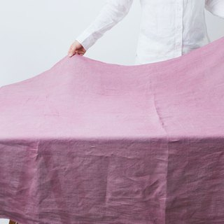 Plant tree dyeing linen tablecloth all five colors