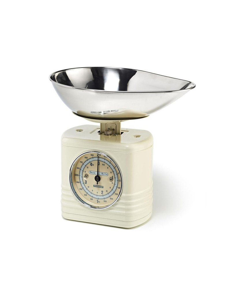 British Rayware industrial wind retro streamline modeling 2 kg kitchen mechanical scales (rice white)