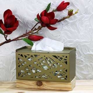 [] OPUS east side nest together metalworking - metal craft tissue box (gold bronze) / Hotel restaurant decoration design inn / texture furnishings / home decor / wedding gift / gifts into the house TI-br06 (G)