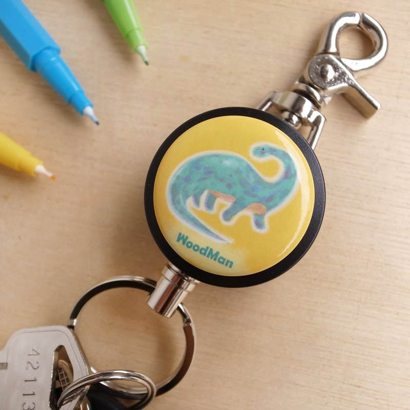 Radar dragon, steel wire retractable key ring