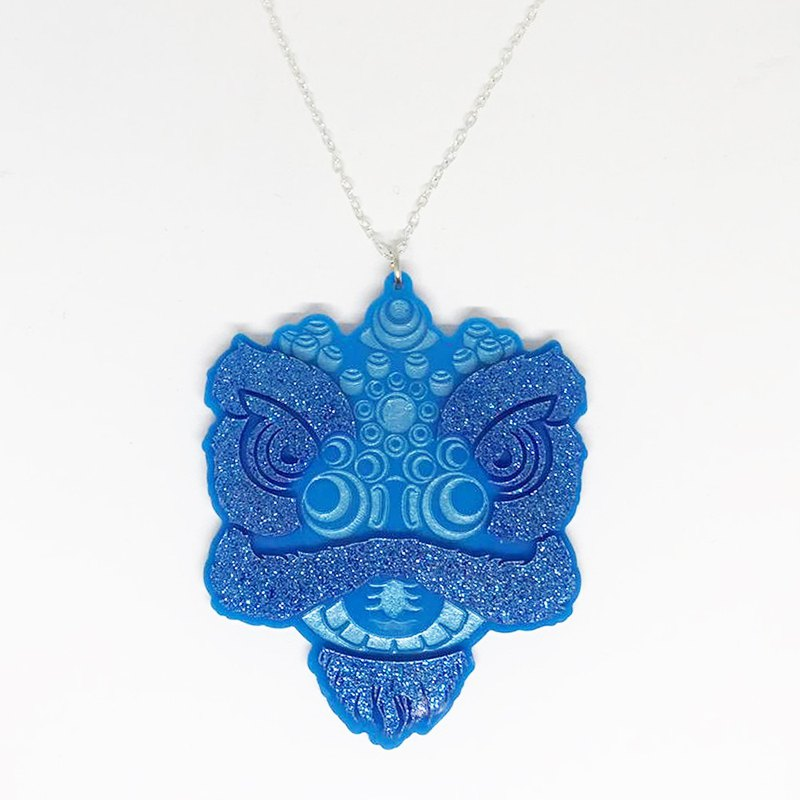 Male Lion House Blue Lion Head Necklace