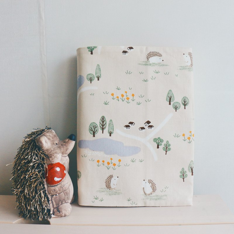 Woods Hedgehog Fabric Handmade Book / Book Cover | 815a.m
