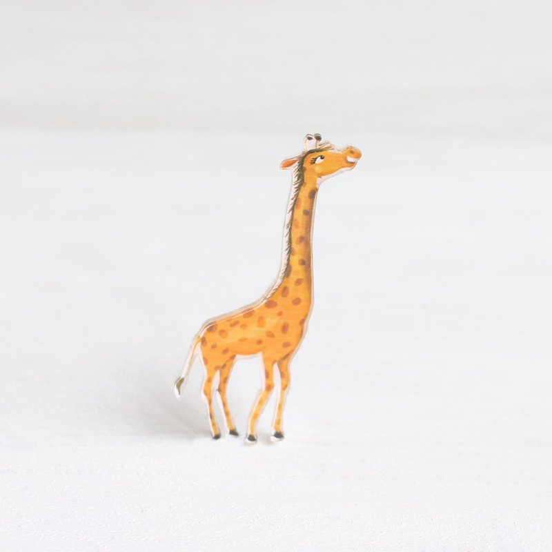 Giraffe small badge / pin I Forest Daily
