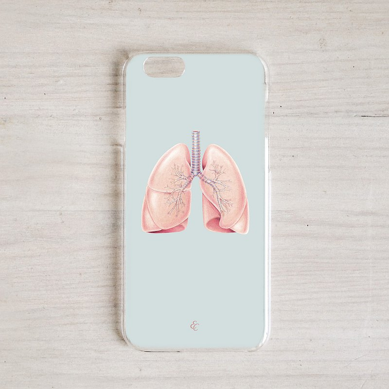 Breathtaking lung customized mobile phone case, organ anatomy doctor gift