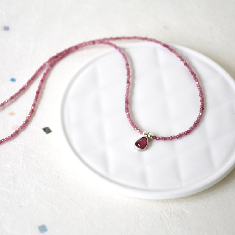 Handmade Tourmaline Beads with Tourmaline pendant Necklace, October Birthstone