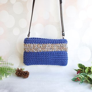 British wind woven dual-use bag navy blue x beige guest cloth color Christmas gift