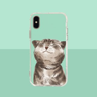 Smiling cat embossed air shell - (iPhone.Samsung Samsung, HTC, Sony. ASUS phone case)