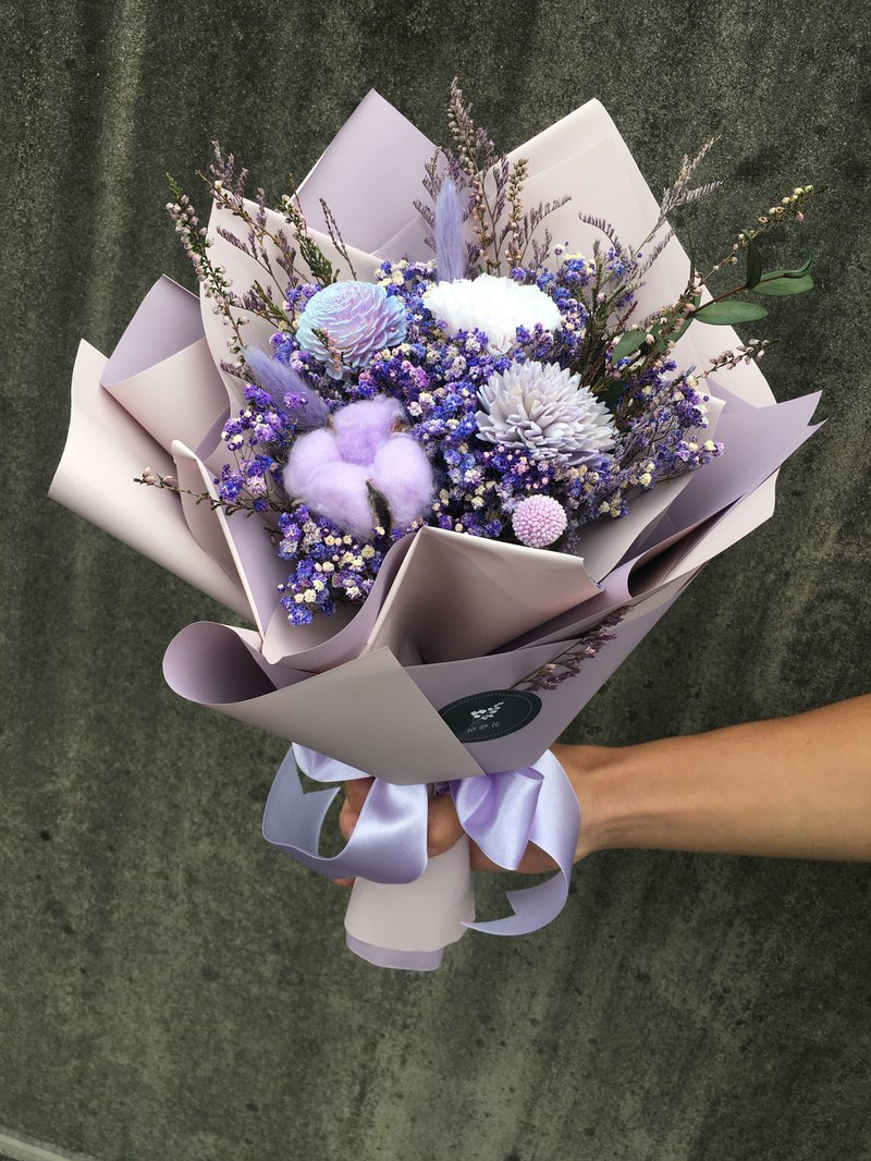 [Light Purple] Immortal Carnation Bouquet / Dry Flower Bouquet / Mother's Day Bouquet
