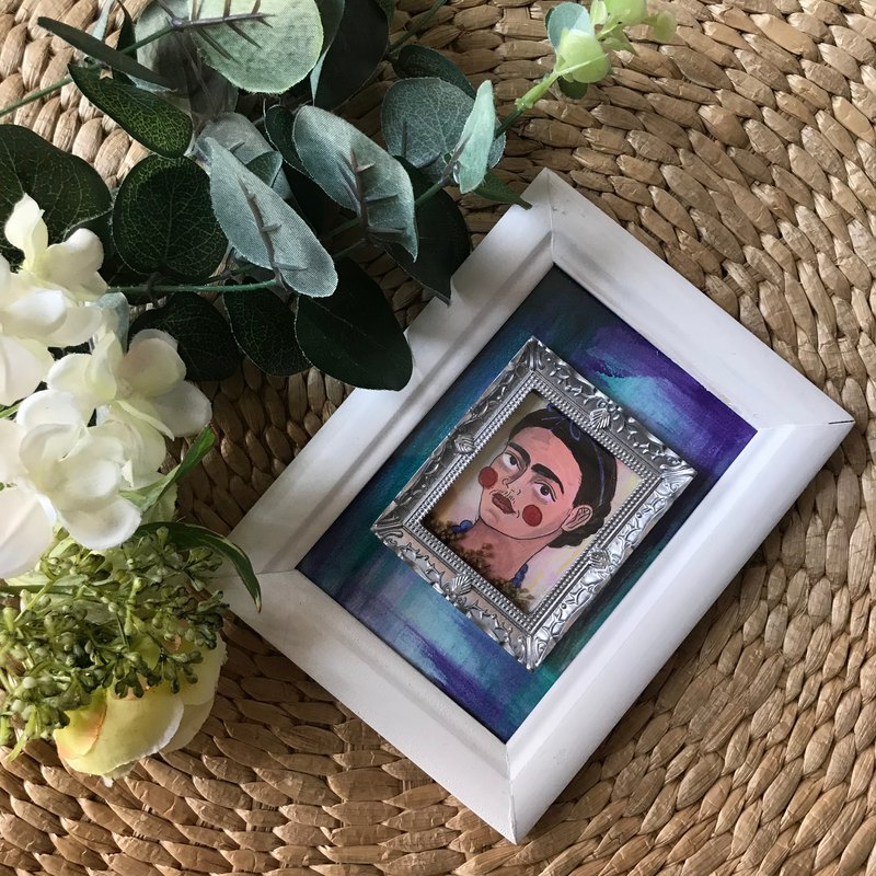Box Frame Home Decor Series | Frida Kahlo's portrait