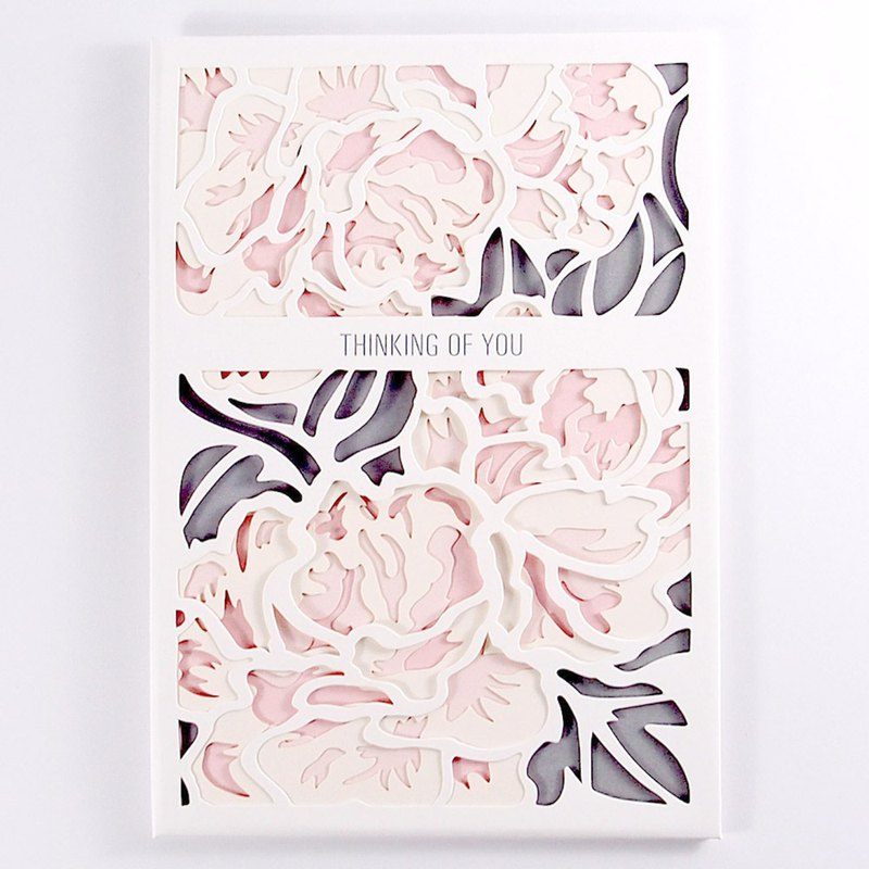 Pink Peony around the heart [Up With Paper Luxe]