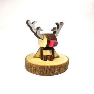 【Red nose reindeer - table decoration / magnet clip】 Accompany your table healing stationery