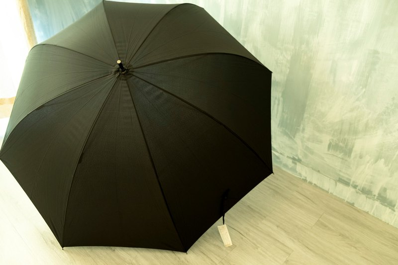 UrbaneUmbrella British Hand Open Gentleman Big Umbrella - Black