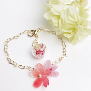 Sakura Crystal Bracelet Red