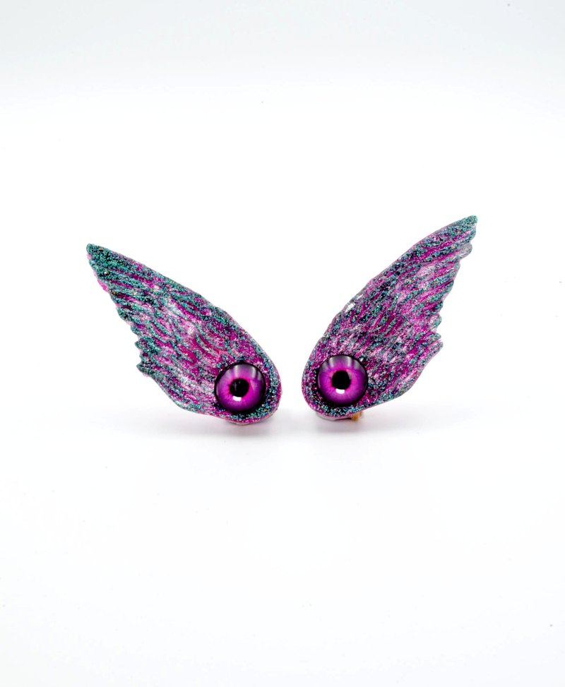 TIMBEE LO Eye Wings Flying Wing Ear Clips Magic Colors Flash Colorful Wind Alien Monsters Series