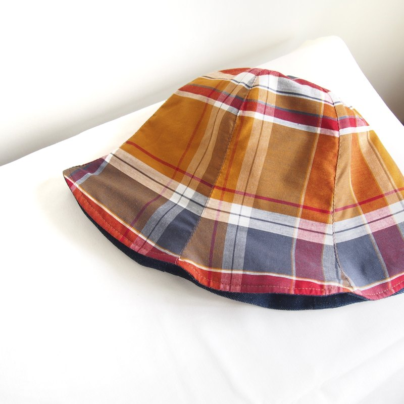 Handmade hard double sided hat fisherman hat with your favorite color