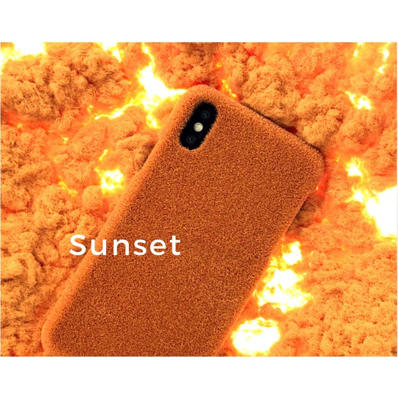 Shibaful iPhone XS/ XR / XS Max Sunset Sunset Mobile Shell Autumn and Winter Limited